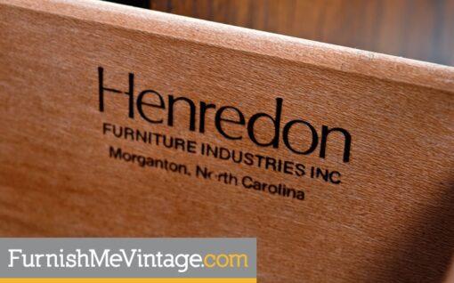 Henredon Campaign Chifforobe - Brass Accent Pecan Storage Cabinet