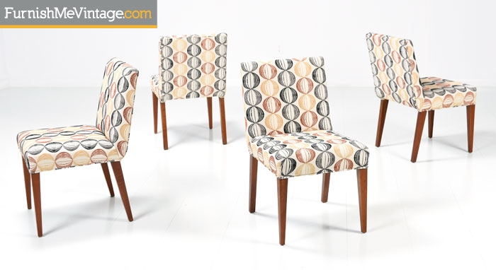 Set of Four T.H. Robsjohns Gibbings Dining Chairs
