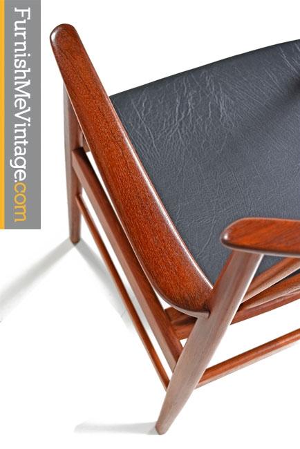 Set of 8 Restored DUX Teak Chairs