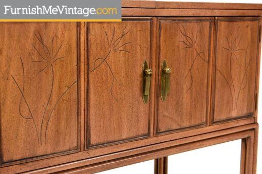 Vintage Davis Cabinet Expanding Mahogany Bar Cart
