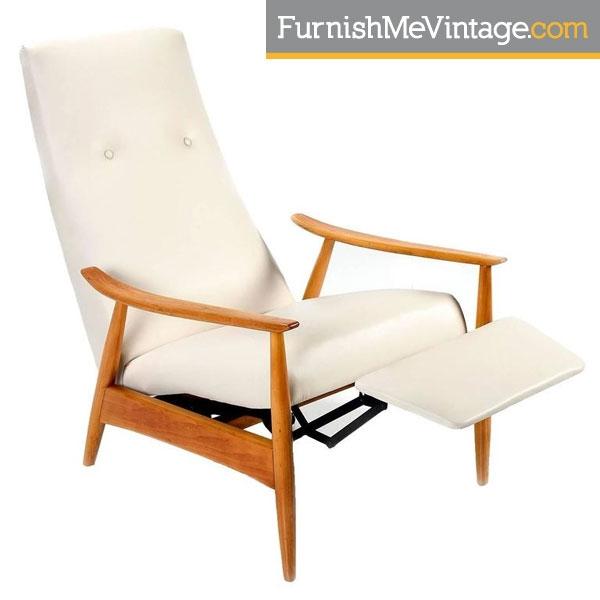 mid century modern recliner Restored Mid Century Modern Milo Baughman Recliner mid century modern recliner