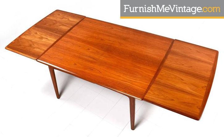 Refinished Vintage Arne Vodder Danish Teak Table