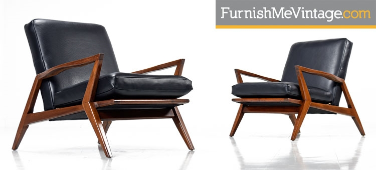 Phenomenal Pair Of Mid Century Modern Arm Chairs In Leather Pdpeps Interior Chair Design Pdpepsorg