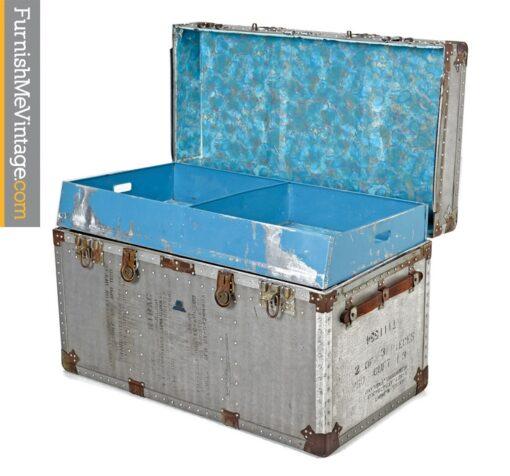 military trunk, Korean War, Vintage, Aluminum