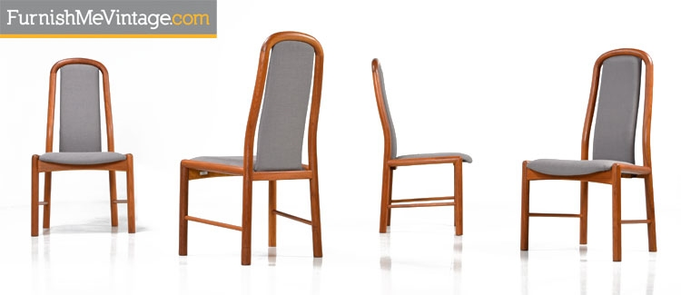 Charmant Set Of Four Benny Linden Teak Chairs