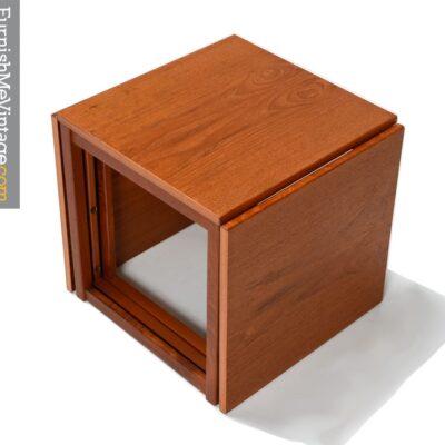 Kai Kristiansen Mid Century Modern Teak Nesting Tables