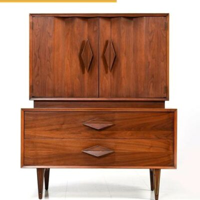Albert Parvin,Gentlemans Dresser,danish,modern,retro,diamond pull,highboy