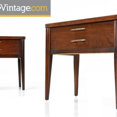 Pair of Restored Vintage Broyhill Saga Nightstands