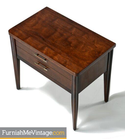 Broyhill Saga Nightstand End Tables - Mid Century Modern