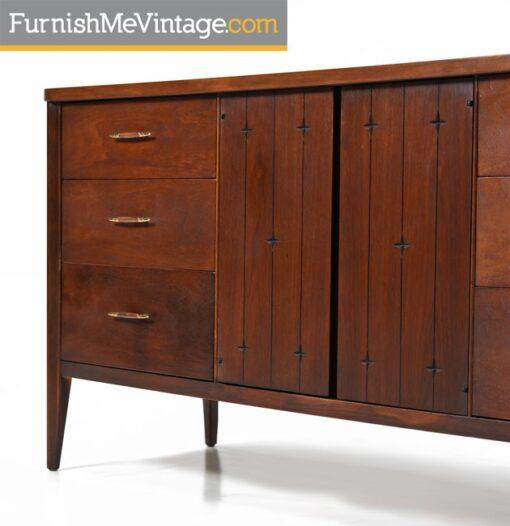Broyhill Saga Dresser Credenza - Restored Mid Century Modern