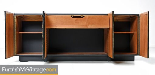Adrian Pearsall Credenza - Gold Brutalist Paul Evans Style Sideboard