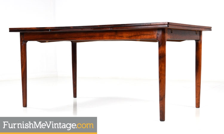 Incroyable Refinished Vintage Bernhard Pedersen Rosewood Table