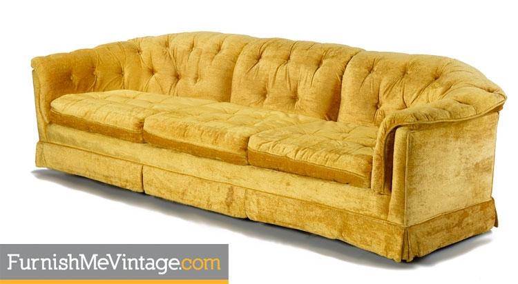 Vintage Marigold Tufted Sofa