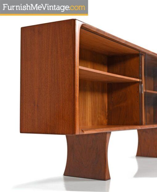 Teak Bookcase Cabinet Display Hutch by Bernhard Pedersen & Son