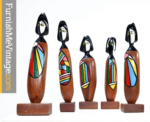 mid century modern Frank Coronado figurines