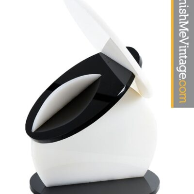 Postmodern Black and White Lucite Sculpture