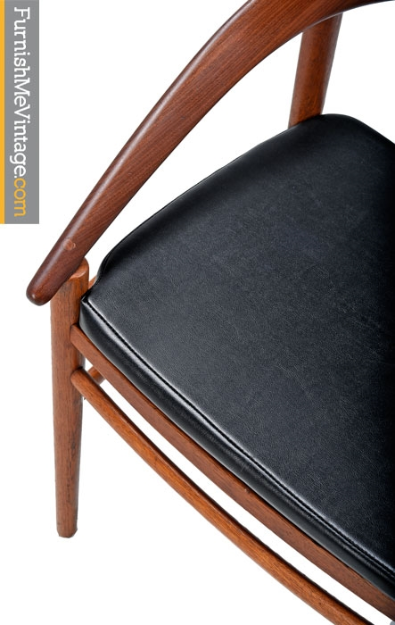 Brockmann-Petersen Danish Teak Bow Back Arm Chairs