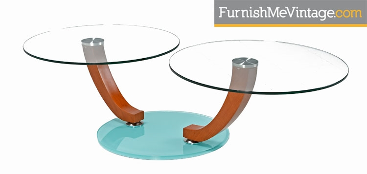 Contemporary Two Tier Glass Coffee Table