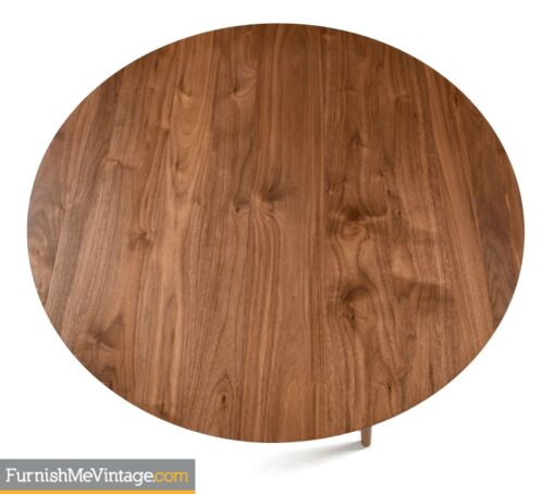 Circular Contemporary Walnut Coffee Table