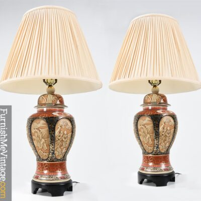 Pair of Vintage Chinese Porcelain Lamps
