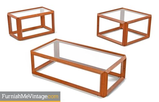Teak and Glass Danish Modern Coffee Table