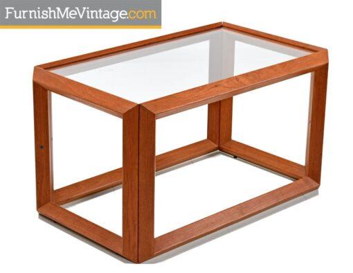 Teak and Glass Danish Modern End Table