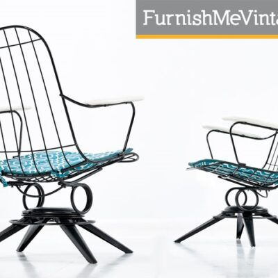 Pair of Retro Homecrest Outdoor Chairs