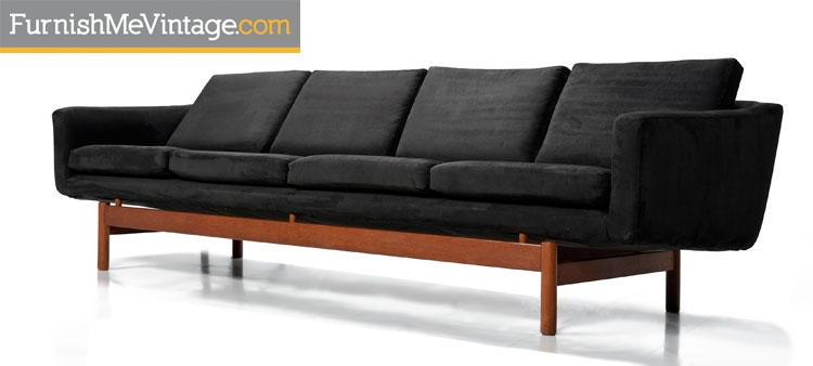Long Mid Century Modern Danish Teak Sofa