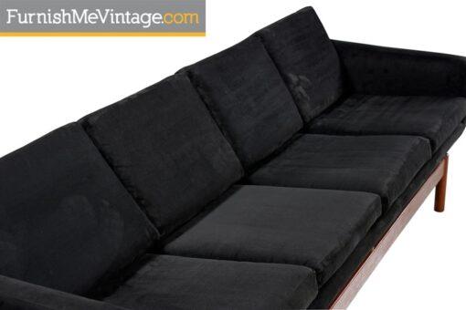 Long Mid Century Modern Danish Teak Sofa