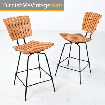 Arthur Umanoff Counter Height Bar Stools