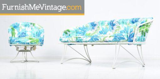 Homecrest Retro Outdoor Sofa and Chair Set