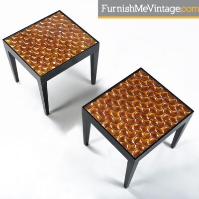 Black and Copper Colored Modern End Tables