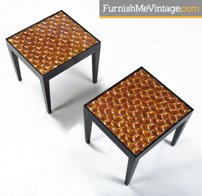 Black And Copper Modern End Tables