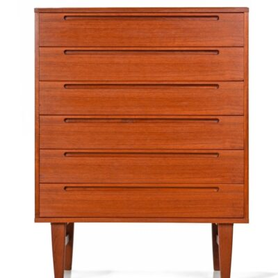 Nils Jonsson Danish Modern Teak Highboy Chest of Drawers