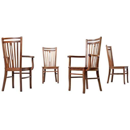 Brazilian Hardwood Dining Chairs - Giuseppe Scapinelli Style