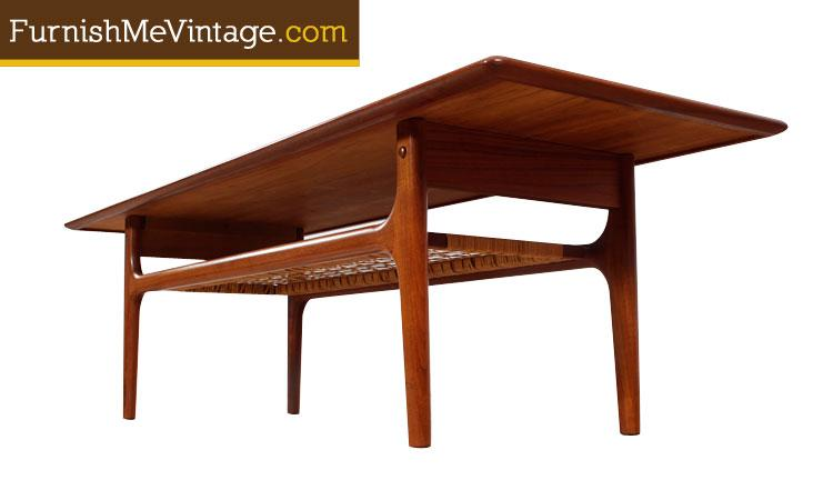 Mid Century Modern Trioh Danish Teak Coffee Table