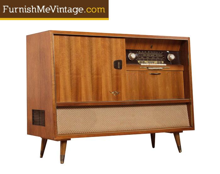 Mid Century Modern Grundig Majestic Stereo Console