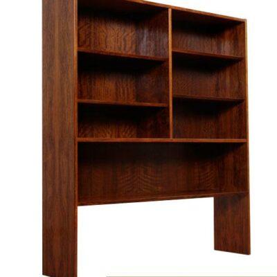 Vintage Danish Modern Hundevad Rosewood Bookcase Hutch