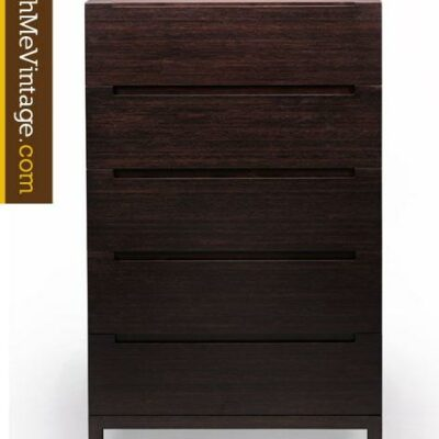 Greenington Orchid Dark Chocolate Bamboo Five Drawer Chest