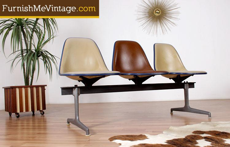 Charles Eames Chair Century Miller Mid Bench Shell Herman Modern For LzjGVpqSUM