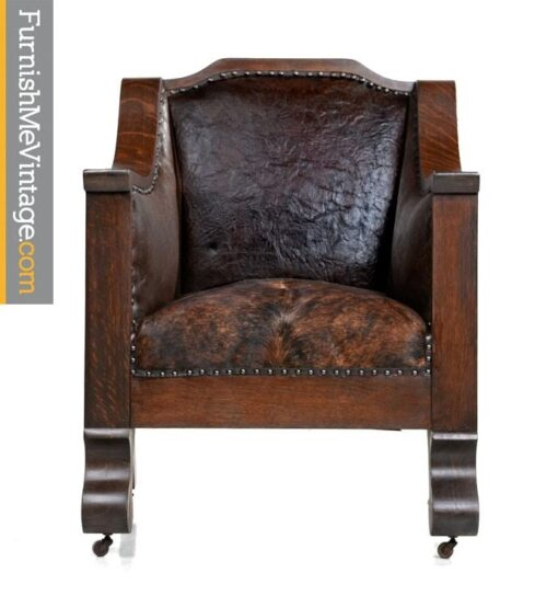 hand-made,antique,empire,thrown chair,cowhide,leather