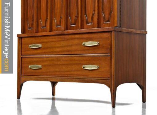 Walnut Gentlemans Chest Dresser by Kent Coffey, 1960's