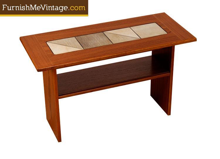 Vintage Gangso Mobler Danish Sofa Table