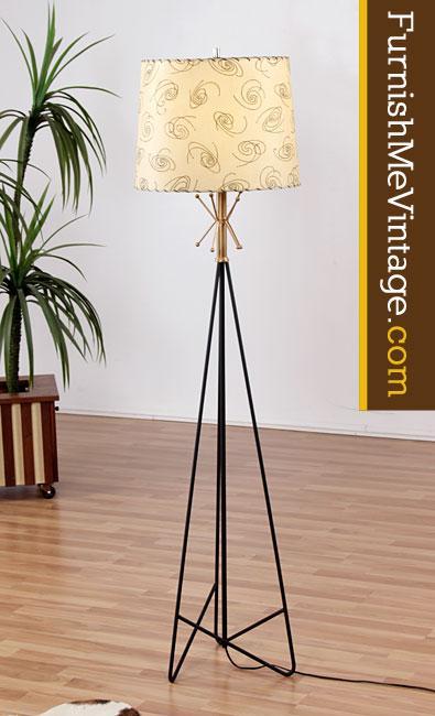 Mid Century Modern Hairpin Floor Lamp