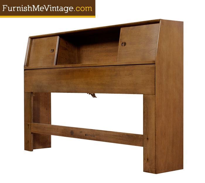 Admirable Mid Century Modern Heywood Wakefield Bed Headboard Beatyapartments Chair Design Images Beatyapartmentscom