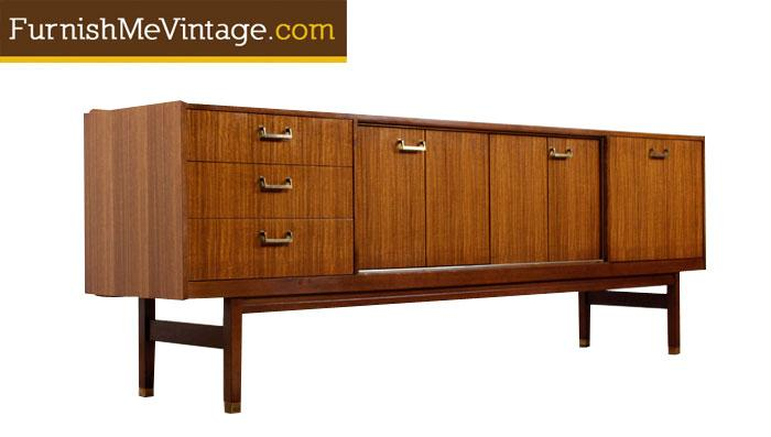 Mid Century Modern Long G-Plan Credenza on mid century stool plans, mid century deck plans, mid century bar plans, mid century nightstand plans, mid century bookshelf plans, mid century console plans, mid century dresser plans, mid century desk plans, mid century bookcases plans, mid century kitchen plans, mid century stand plans, mid century furniture plans,