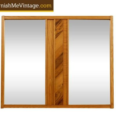Mid Century Modern Oak and Hickory Mirror