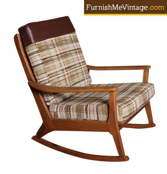 Sensational Original Mid Century Modern Rocking Chair Unemploymentrelief Wooden Chair Designs For Living Room Unemploymentrelieforg
