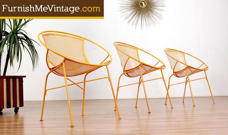 Incredible Mid Century Salterini Radar Chairs Bralicious Painted Fabric Chair Ideas Braliciousco