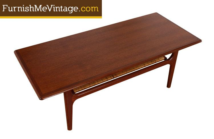 Refinished Mid Century Modern Teak Coffee Table By Trioh